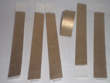 Premium Gold Tyvek Wristbands 3/4""