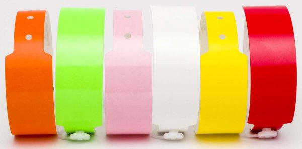 Custom Printed Neon Mixed Vinyl Wristbands