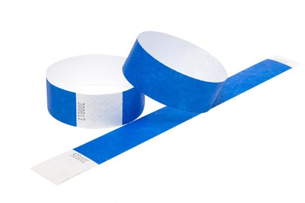100 Premium Blue Tyvek Wristbands