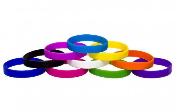 50 Silicon Wristbands