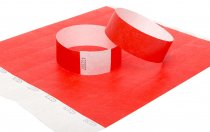 100 Premium Red Tyvek Wristbands