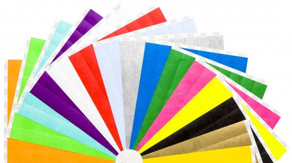 "2,000 Plain Premium Tyvek Wristbands 3/4"" (2 Colours)"