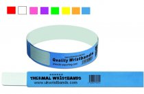 250 Custom Printed VINYL / PLASTIC Wristbands