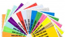 300 Custom Printed Premium Tyvek Wristbands