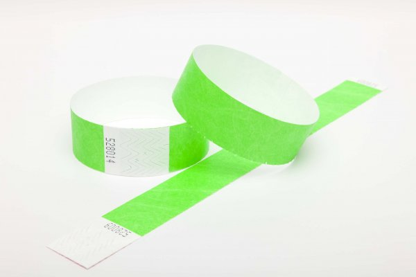 Premium Neon Green Tyvek Wristbands