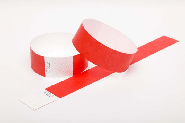 Premium Red Tyvek Wristbands