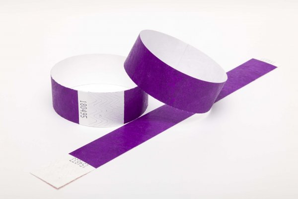 Premium Purple Tyvek Wristbands