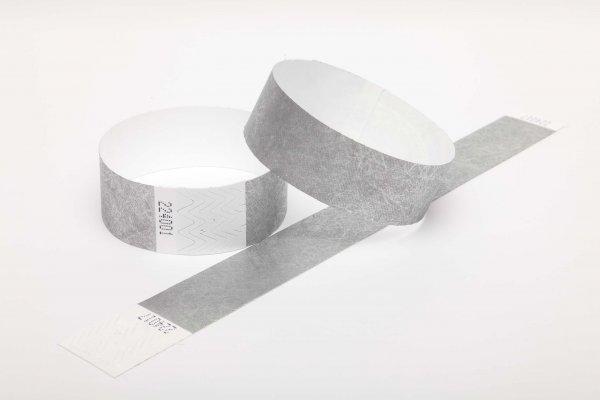 Premium Silver Tyvek Wristbands
