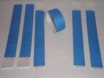 "Premium Blue Tyvek Wristbands 3/4"""