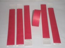 Premium Red Tyvek Wristbands 3/4""