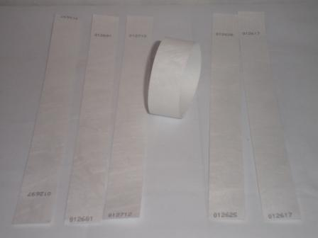 Premium White Tyvek Wristbands 3/4""