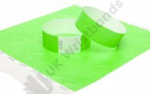 100 Premium Neon Green Tyvek Wristbands