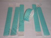 "Premium Aqua Tyvek Wristbands 3/4"""
