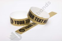 Premium Custom Printed Gold Tyvek Wristbands