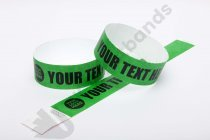 Premium Custom Printed Dark Green Tyvek Wristbands