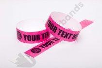 Premium Custom Printed Neon Pink Tyvek Wristbands