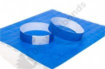 100 Premium Blue Tyvek Wristbands 3/4""