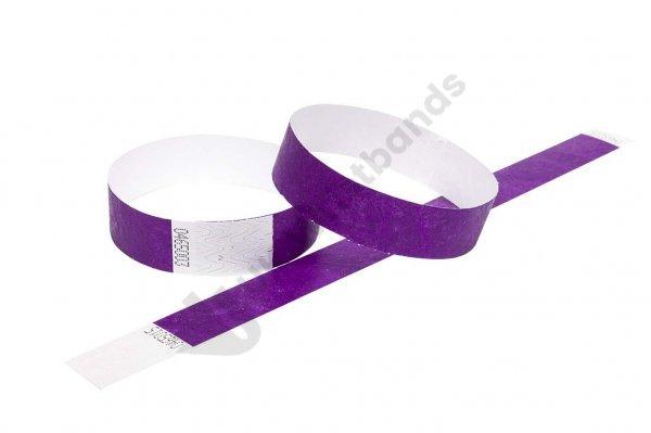 "100 Premium Purple Tyvek Wristbands 3/4"""