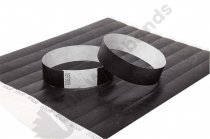100 Premium Black Tyvek Wristbands 3/4""
