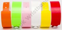 Plain Neon Mixed Vinyl Wristbands