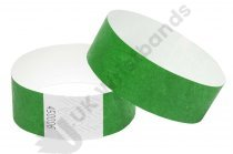 100 Premium Dark Green Tyvek Wristbands
