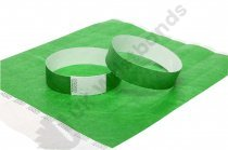 100 Premium Dark Green Tyvek Wristbands 3/4""