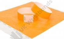 100 Premium Neon Orange Tyvek Wristbands