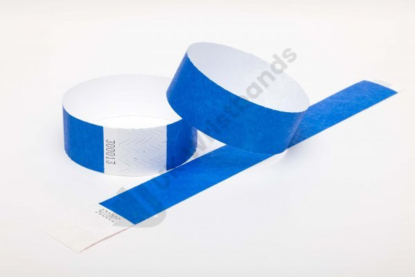 Premium Blue Tyvek Wristbands