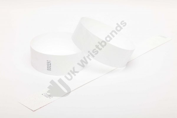Premium White Tyvek Wristbands