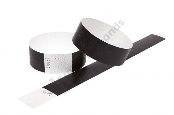 Premium Black Tyvek Wristbands
