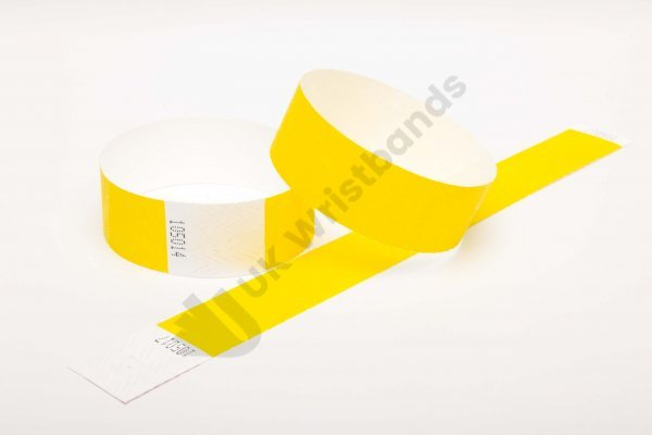 Premium Yellow Tyvek Wristbands