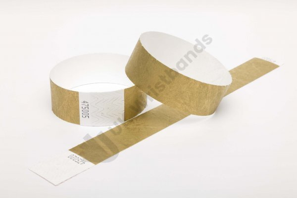 Premium Gold Tyvek Wristbands
