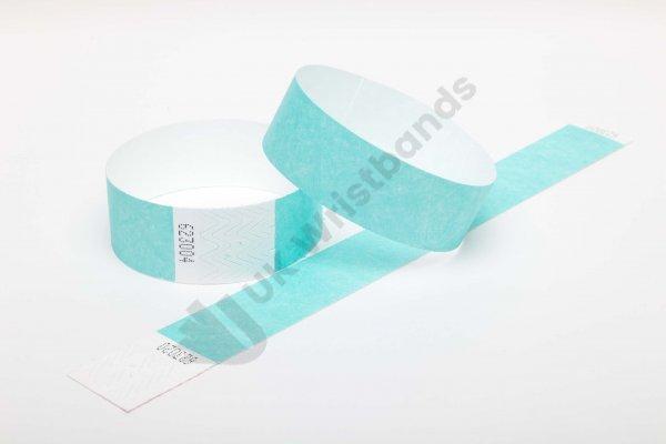 Premium Aqua Tyvek Wristbands