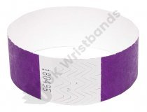 100 Premium Purple Tyvek Wristbands