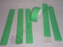 Premium Neon Green Tyvek Wristbands 3/4""
